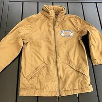 Gap Kids Boys Spring Beige Zip Up Jacket Xs 4-5 Hidden Hoody Selling Tons Photo