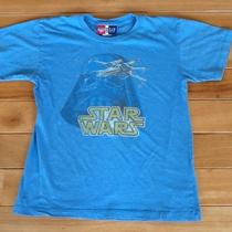 Gap Kids Boys Star Wars T-Shirt Xl 12 Darth Vader X-Wing Fighter Junk Food Loves Photo
