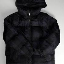 Gap Kids Boys Warmest 8 M Gray Black Plaid Puffer Jacket Down Fill Fleece Lined Photo