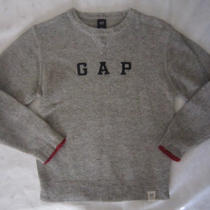 Gap Kids Boys Wool Blend Pullover Logo Sweater - Gray - Size M (7-8) - Euc Photo
