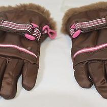 Gap Kids  Brown Outdoor Winter Gloves Faux Fur Size S on Sale Photo