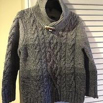 Gap Kids Cable Knit Warm Sweater Gray Color Wool Blend Size 4 Photo
