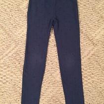 Gap Kids Dark Blue Leggings Glitter Polka Dot Accents Youth Girls Size M (8) Photo