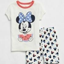 Gap Kids Disney Minnie Mouse Watermelon Shorts Pajamas 8 45 Nwt Photo