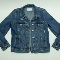 Gap Kids Distressed Denim Jean Jacket Girls Size Xs Photo