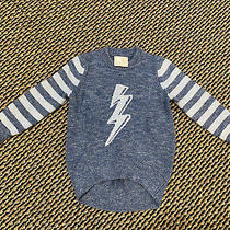 Gap Kids Ellen Degeneres Lightening Bolt  Blue Sweater Size Xs (4-5) Photo