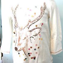 Gap Kids First Light Sequin Bling Reindeer 3/4 Tee T-Shirt Top Size M 8 Nwt 27 Photo