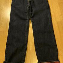 Gap Kids Flannel Lined Jeans Size 8 Regular Straight Dark Wash Winter Nwot Photo