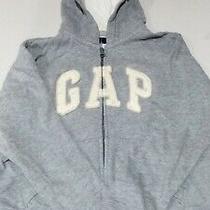Gap Kids Fleece Jacket Hoodie Size 6-7 S Small Grey Zip Zipper Photo