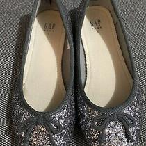 Gap Kids Girl Ballet Flats (Grey/silver Glitter) - Size 1 Photo