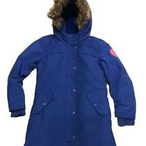 Gap Kids Girl Coldcontrol Ultra Max Down Parka Jacket Blue Size L Photo