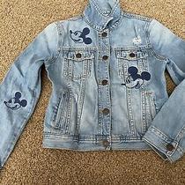 Gap Kids Girl Disney Mickey Mouse Denim Jacket Size 10 Years Photo