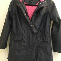 Gap Kids Girl Rain Coat Hoodie Jacket Sz L (10) Euc Photo
