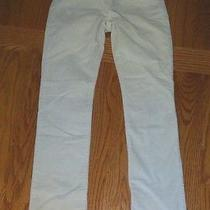 Gap Kids Girl's Off White Velour Skinny Pants -- Size 10  Photo