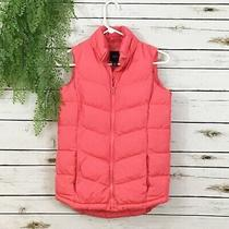Gap Kids Girl's Pink Coral Puffer Vest Size Xxl 13-14 Years Photo