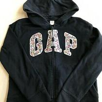 Gap Kids Girls Beautiful Navy Sequenced Sweatshirt With Hoodie Size Xxl (14-16) Photo