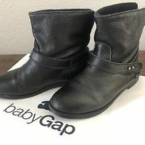 Gap Kids Girls Black Pull on Ankle Boots Booties Size 2 Photo