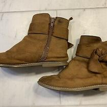 Gap Kids Girls Brown Bow Faux Suede Boots Size 2 Photo
