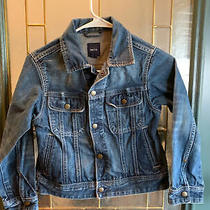 Gap Kids Girls Classic Denim Blue Jean Jacket - Size 8 - Cotton Photo
