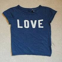 Gap Kids Girls Fine Cotton Navy Blue Love Sweater Size M Medium (8) Photo