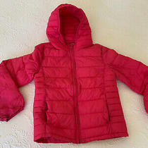 Gap Kids Girls Hooded Puffer Jacket Pink Size Large Photo
