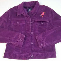 Gap Kids Girls Jacket Size 10 Large Purple Velvet Photo