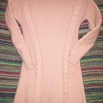 Gap Kids Girls Large Pink Cable Knit Sweater Dress Photo