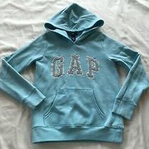 Gap Kids Girls Light Aqua Blue Sweatshirt / Hoodie Size (L / 10-11 Years) Photo