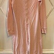 Gap Kids Girls Light Pink Glitter Dotted Long Johns One Piece Snap Pajamas 12 Photo