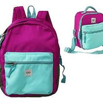 Gap Kids Girls Lilac Backpack Lunch Box Bag Set School Bag New Photo
