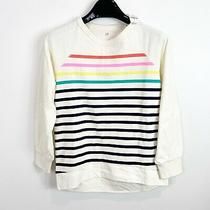 Gap Kids Girls Long Sleeve Lightweight Sweatshirt Shirt Striped Size Medium Photo