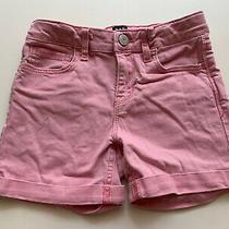 Gap Kids Girls Pink Denim Stretch Midi Shorts Size 8 Photo