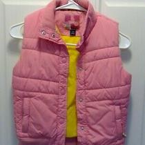 Gap Kids Girls Puffer Vest Size l(10) Pink  Photo