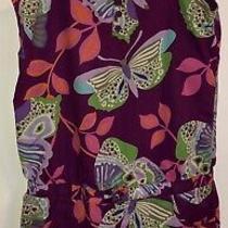 Gap Kids Girls Purple Butterfly Sleeveless Shorts Romper Xxl 14-16 Photo