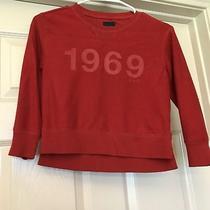 Gap Kids Girls S 6-7 Red 1969 Sweatshirt Pullover - Euc - Free Shipping Photo