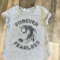 Gap Kids Girls Sequins Glitter Embroider Horse T-Shirt Forever Fearless Sz. M Photo