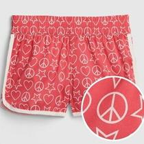 Gap Kids Girls Shorts Sz Xl Pink Peace Love Pull-on Attached Panty nwt19.95 Photo