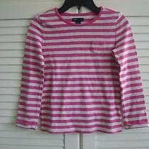 Gap Kids Girls Size 10 Cute Pink Striped Tee-Bts Photo