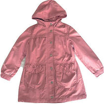 Gap Kids Girls Size 10 Light Rain Coat Pink Cotton Hooded  Photo