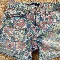 Gap Kids Girls Size 12 Floral Print Denim Jean Jeans  Photo