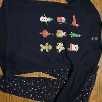 Gap Kids Girls Size 4 Holiday Lights 2 Piece Pajamas Photo