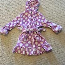 Gap Kids Girls Size 6 Purple Fuzzy Bath Robe Hooded Sleepwear Belted Pockets Photo