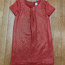 Gap Kids Girls Size Medium Dress Red Holiday Fancy Dressy Dress Up M Photo