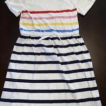 Gap Kids Girls Size Xl Rainbow Striped Short Dress Photo