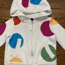 Gap Kids Girls Size Xs 4-5 Polka Dot Hoodie Sweater Photo