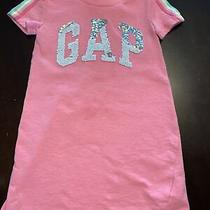 Gap Kids Girls Size Xs Flip Sequin Logo Sweatshirt Dress Photo