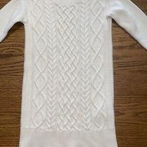 Gap Kids Girls Size Xs Long Sleeve Cable Knit Sweater Dress Photo