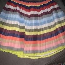 Gap Kids Girls Skirt Size M 8 Striped  Accordion Pleated Pullon Layered Chiffon Photo