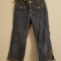 Gap Kids Girls Sz 10 Regular Stretch Blue Capri Jeans Bottoms Pants Ankle Photo