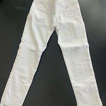 Gap Kids Girls White Denim Stretch Jegging Ankle Pants- Euc Photo